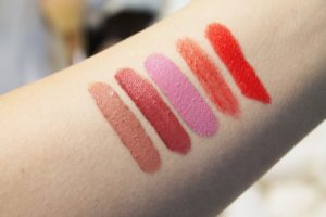 Flower Color Proof Long-Wear Lip Creme Swatches