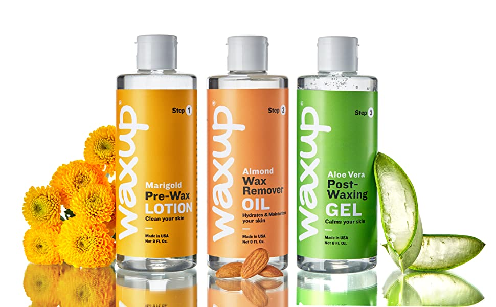 pre post skin products after wax care before oil remover hair soothing gel aloe cleanser waxing kit