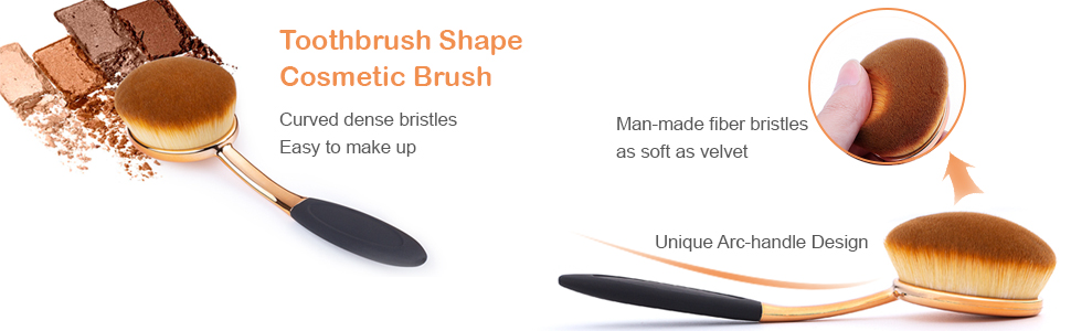 toothbrush style oval brush