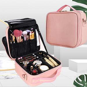 Makeup Case Travel Makeup Bag for Women Makeup Train Case Cosmetic Bag Makeup Brushes Organizer