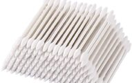 1000 Pieces Cotton Swabs,Double Precision Cotton Tips with Paper Stick pack of 5(Double-Pointed Shape)